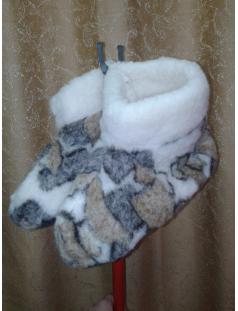 Чуни (домашние тапочки) из натуральной овечьей шерсти