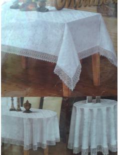 Скатерть Mirabella(белая,кремовая)