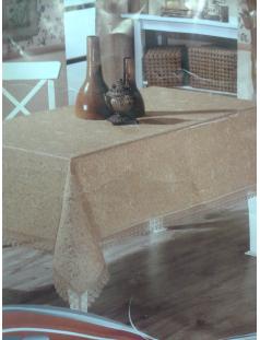 Скатерть Aytu золотая с вышивкой