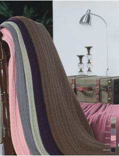 Покрывало вязаное,хлопок 100%, Италия